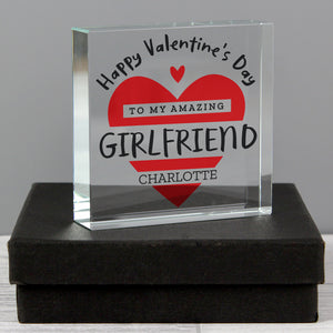 Personalised Crystal Paperweight | Valentine's Gifts