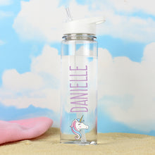 Load image into Gallery viewer, Personalised Glass Water Bottle - Unicorn