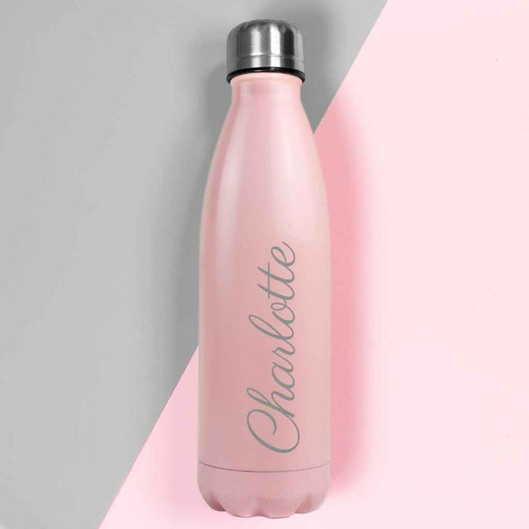 Personalised Matte Pink Hydro Flask