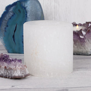 Tealight Holder | Selenite | Cylinder