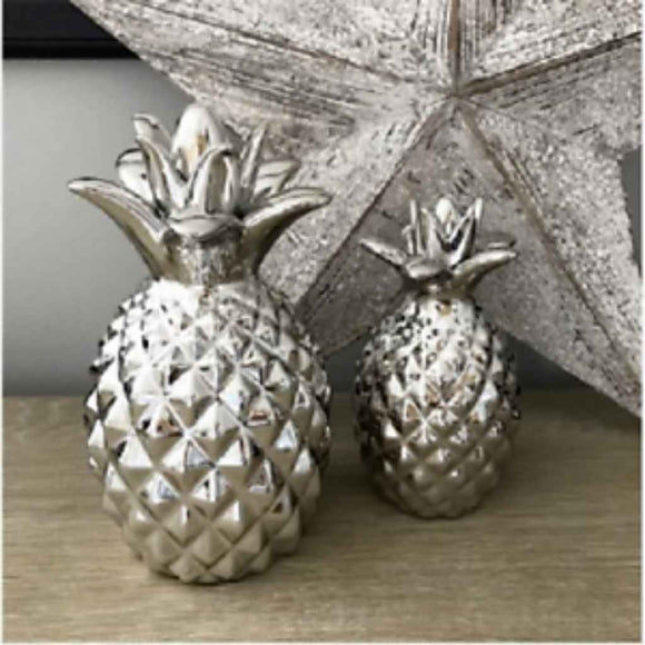 Decorative Silver Pineapple