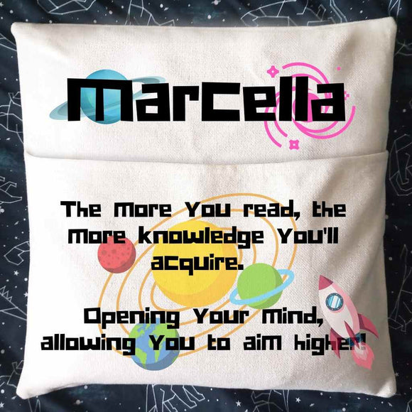 Personalised Reading Book Pocket Cushions |