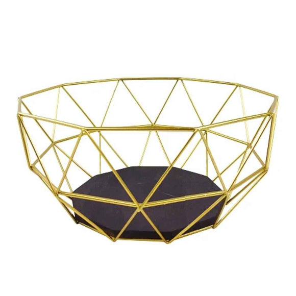 Bowl |  Gold Wire | Geometric Design