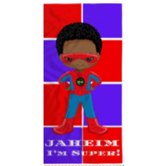 BlackLikeMe | Personalised Towels | Superheroes Squares