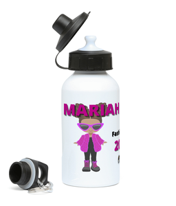 Personalised BLM Sports Water Bottle - Fluffy Fashionista 1