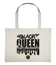 Load image into Gallery viewer, Large Shopping Bag - Black Queen Chess