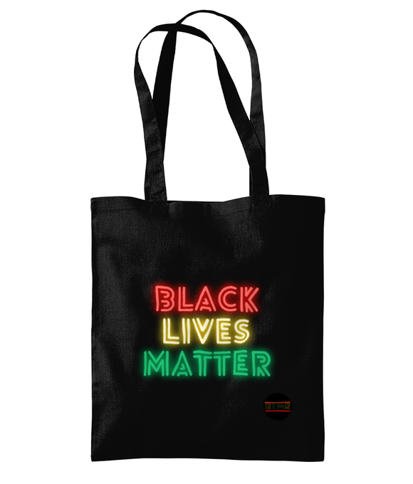 Lightweight Shoulder Tote Bag - Black Lives Matter 20 colours