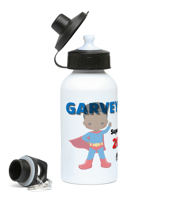 Kids Sports Water Bottle - Blue SuperHero