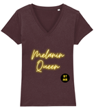 BTMR Melanin Queen 100% organic cotton T Shirt - V Neck