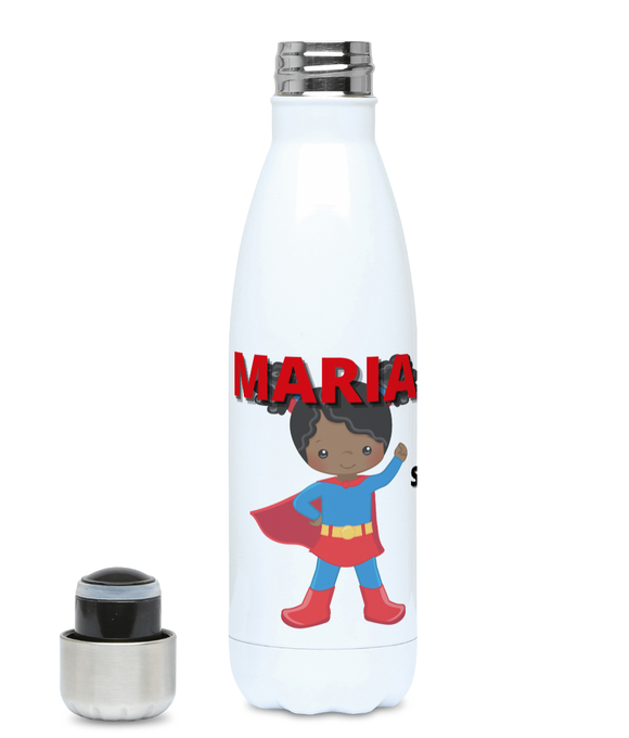 Personalised BLM Kids Hydro Flask - Blue SupeHeroine