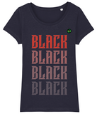Scoop Neck Fitted T Shirt | Women | Black