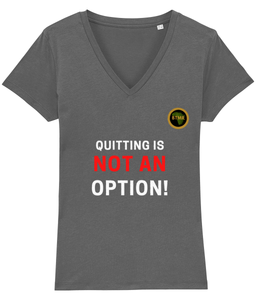 Not An Option Fitted V Neck T Shirt