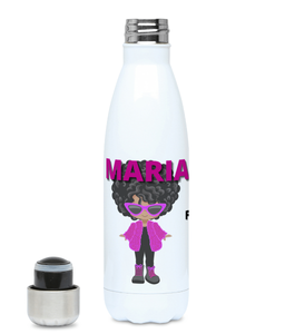 BTMR BlackLikeMe Customised Fluffy Fashionista Curls Hydro Flask