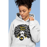 Varsity Hoodie | Unisex | Melanin Queen Afro Motivational Words