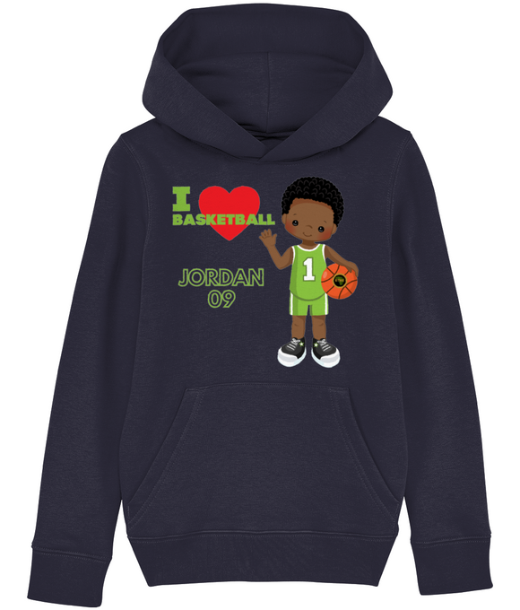 Hoodie | Boy | Love Basketball Green