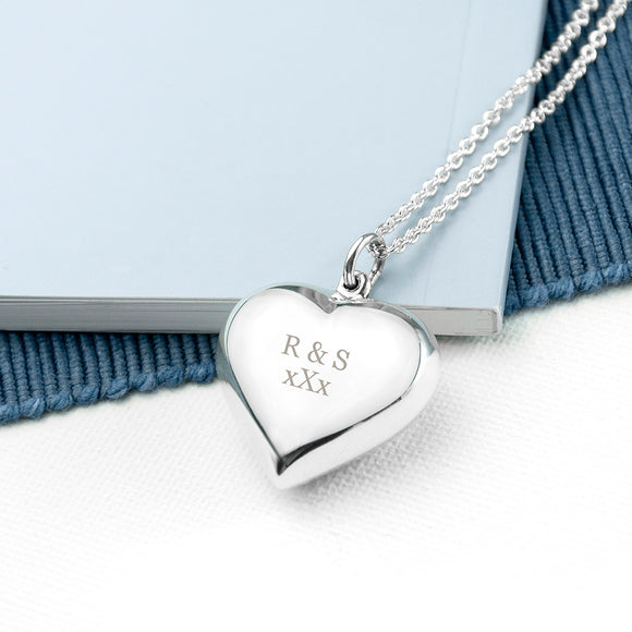 Personalised Cherish Heart Necklace.