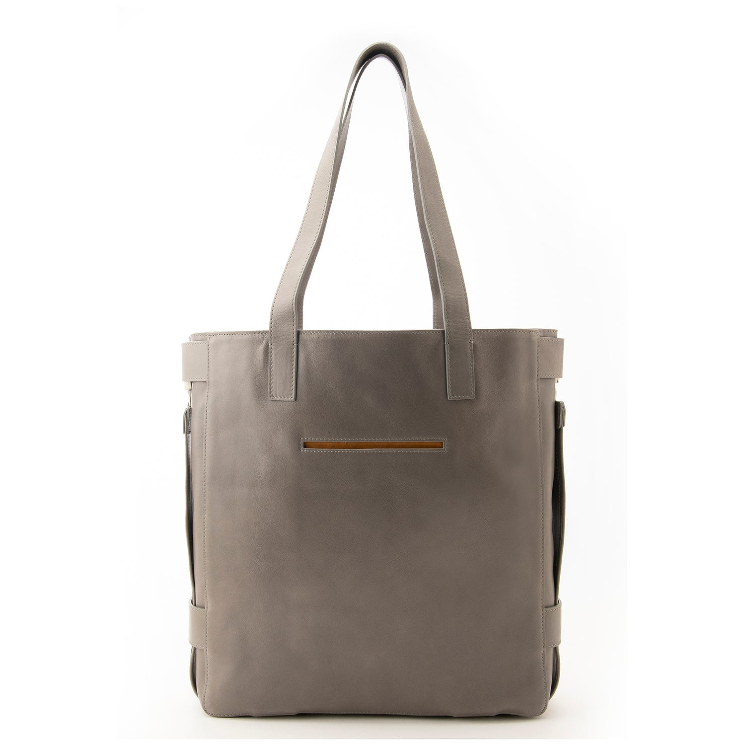 Grey Leather Terra Tote