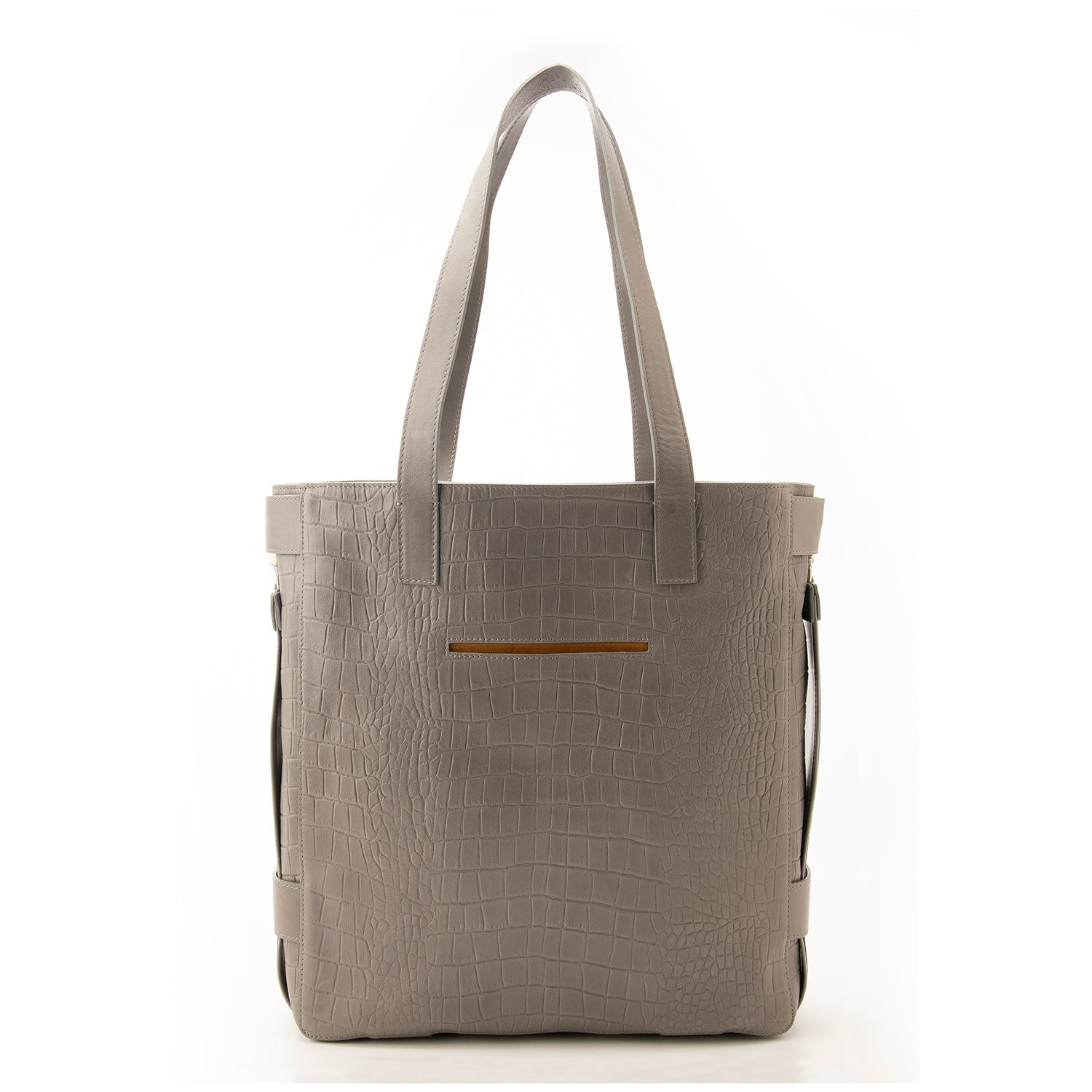 Grey Croc Embossed Terra Tote