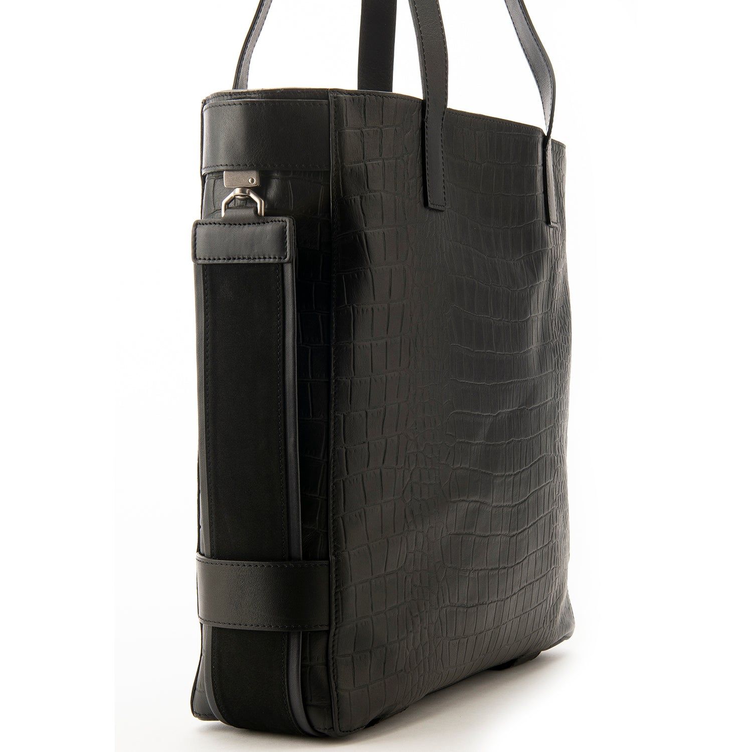 Black Croc Embossed Terra Tote