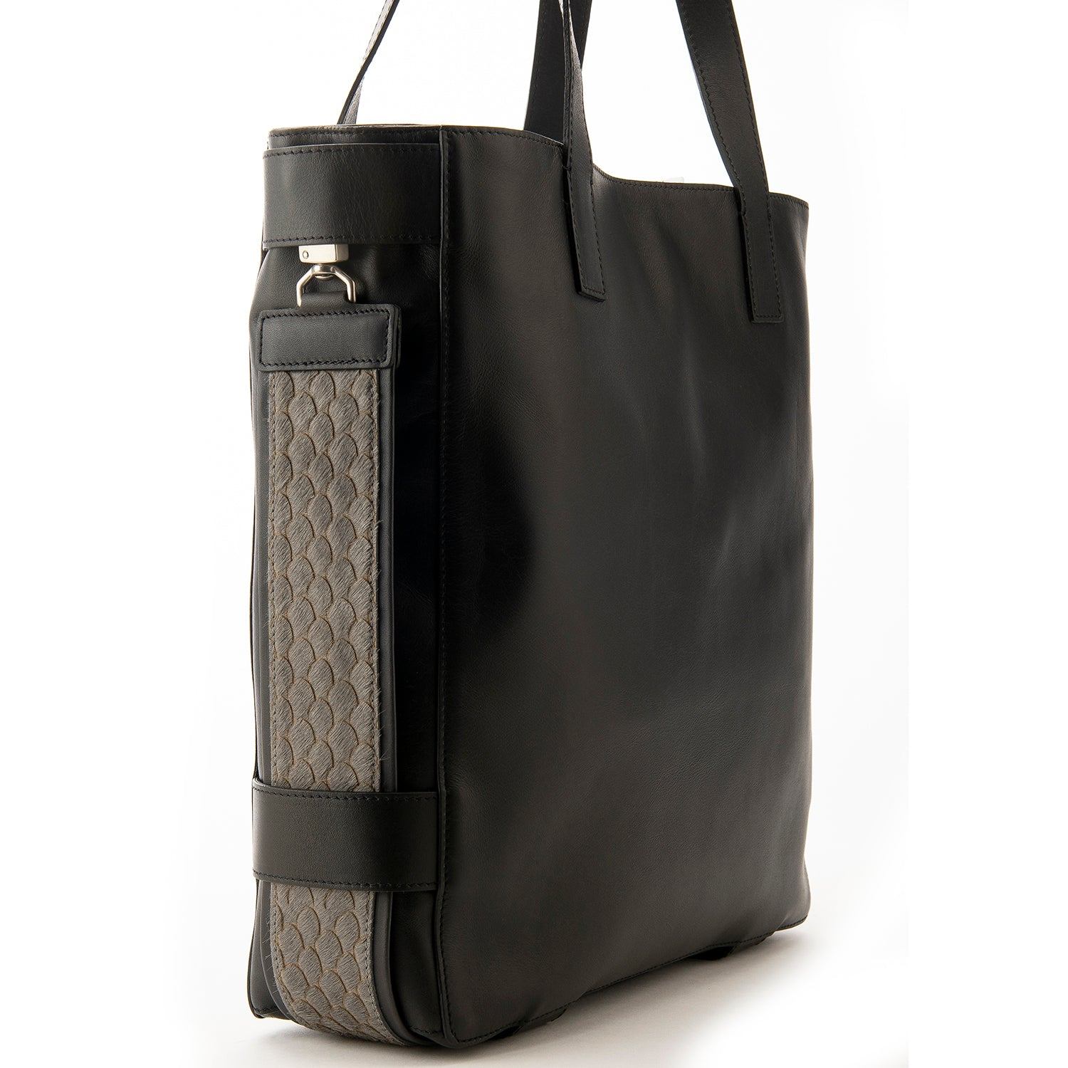 Black Leather Terra Tote