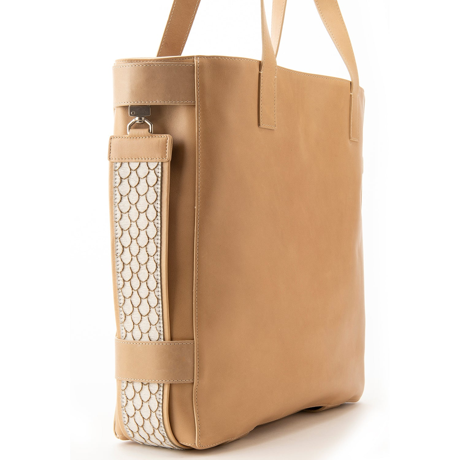 Taupe Leather Terra Tote
