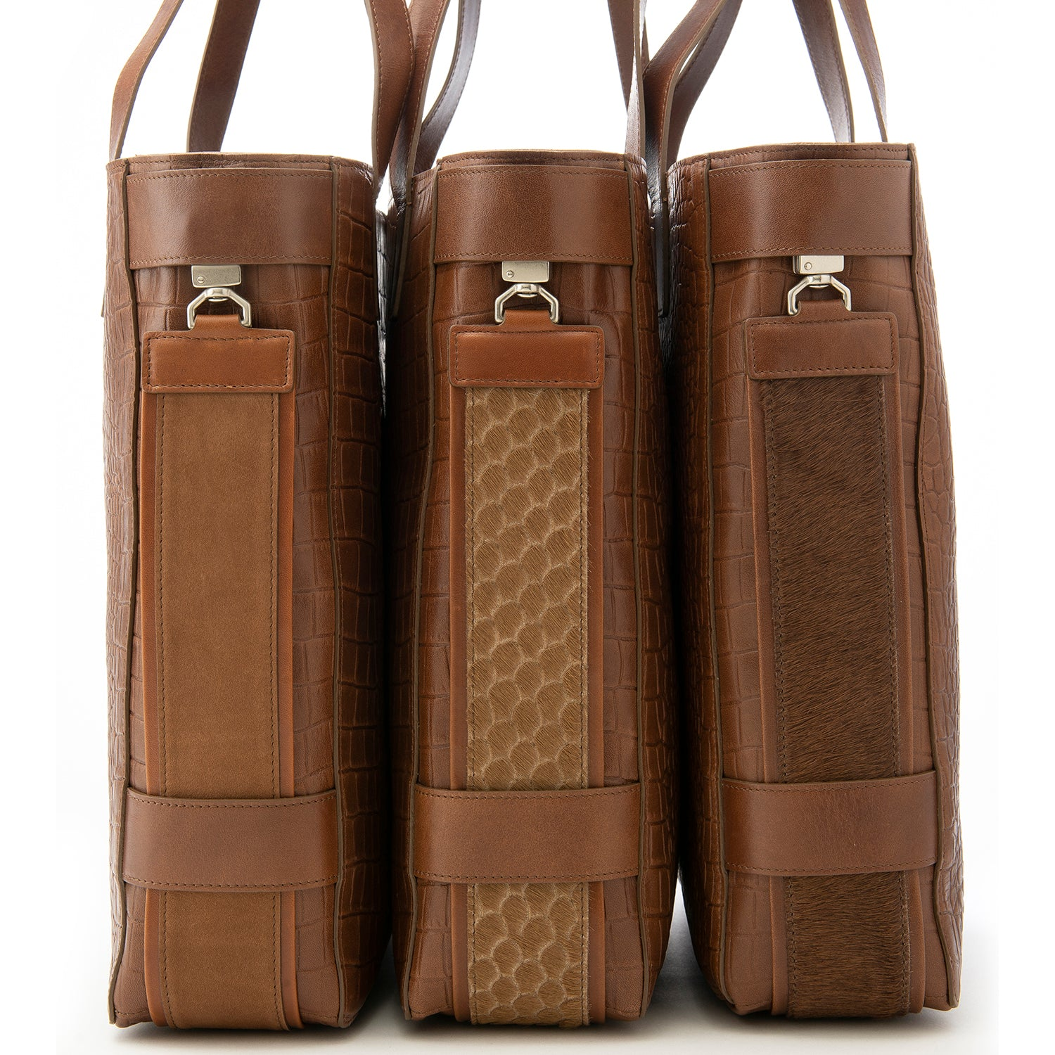 Brown Croc Embossed Terra Tote