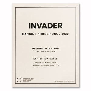 Invader - Hanging x OTI Showcard
