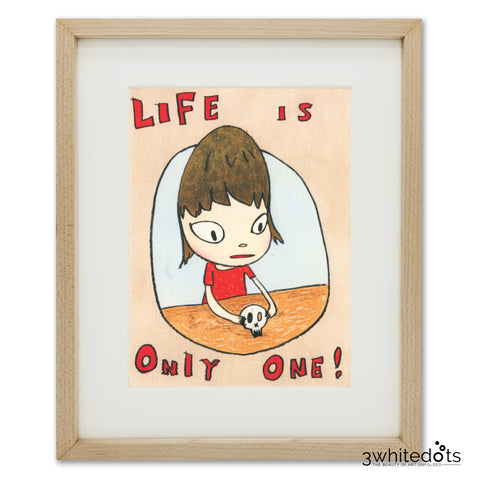 Yoshitomo Nara - Life is Only One (Framed Official Print)