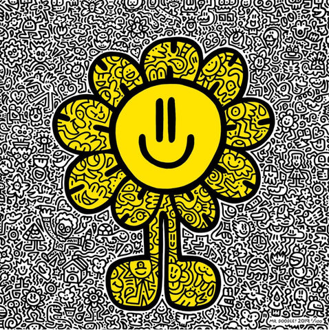 Yellow Flower 2019 By Mr Doodle - [3whitedots]