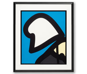 Julian Opie - Beach Head 8 - Cut-out Poster - (Framed Official Print)