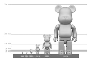 BE@RBRICK 200% BACCARAT CLEAR - [3whitedots]