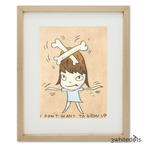 Yoshitomo Nara - I Don't Want To Grow Up (Framed Official Print)