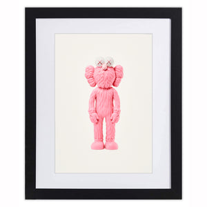 Kaws - BFF 2018 - Pink Colourway - Post Card (Framed Official Print)