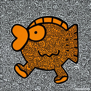 Orange Fish 2019 By Mr. Doodle - [3whitedots]