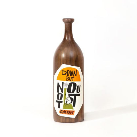 "Yusuke Hanai - ""Down, But Not Out"" Wood Bottle"