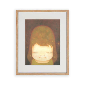Yoshitomo Nara - The Little Star Dweller 2006 - Official Post Card Print (Framed)