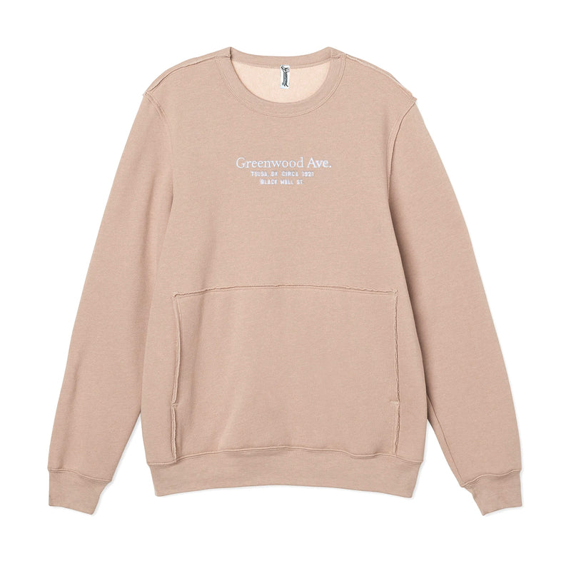 Serif Raw Edge S/S (Oatmeal)