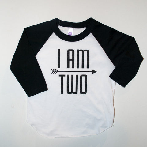 I AM TWO Raglan Tee