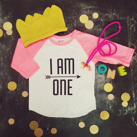 I AM ONE Raglan Tee