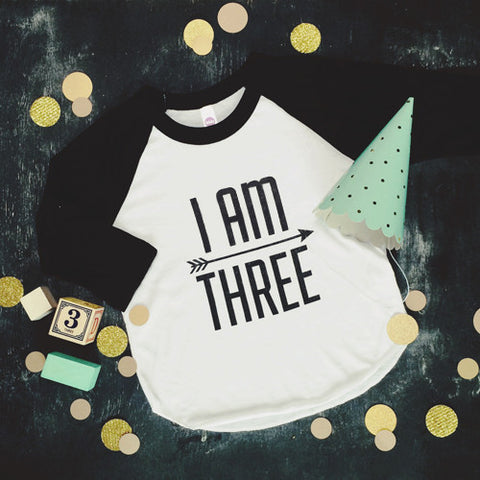 I AM THREE Raglan Tee