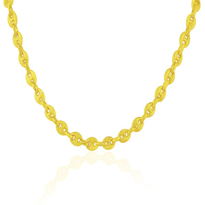 4.7mm 14k Yellow Gold Puffed Mariner Link Chain
