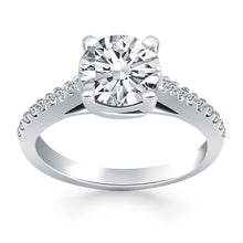 Load image into Gallery viewer, 14k White Gold Trellis Diamond Engagement Ring