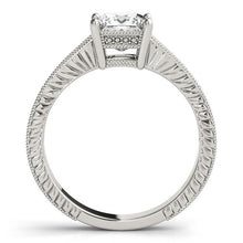 Load image into Gallery viewer, 14k White Gold Antique Style Diamond Engagement Ring (1 1/8 cttw)