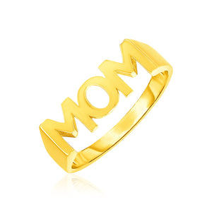 14k Yellow Gold Mom Ring