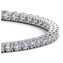 Load image into Gallery viewer, 14k White Gold Round Diamond Tennis Bracelet (6 cttw)