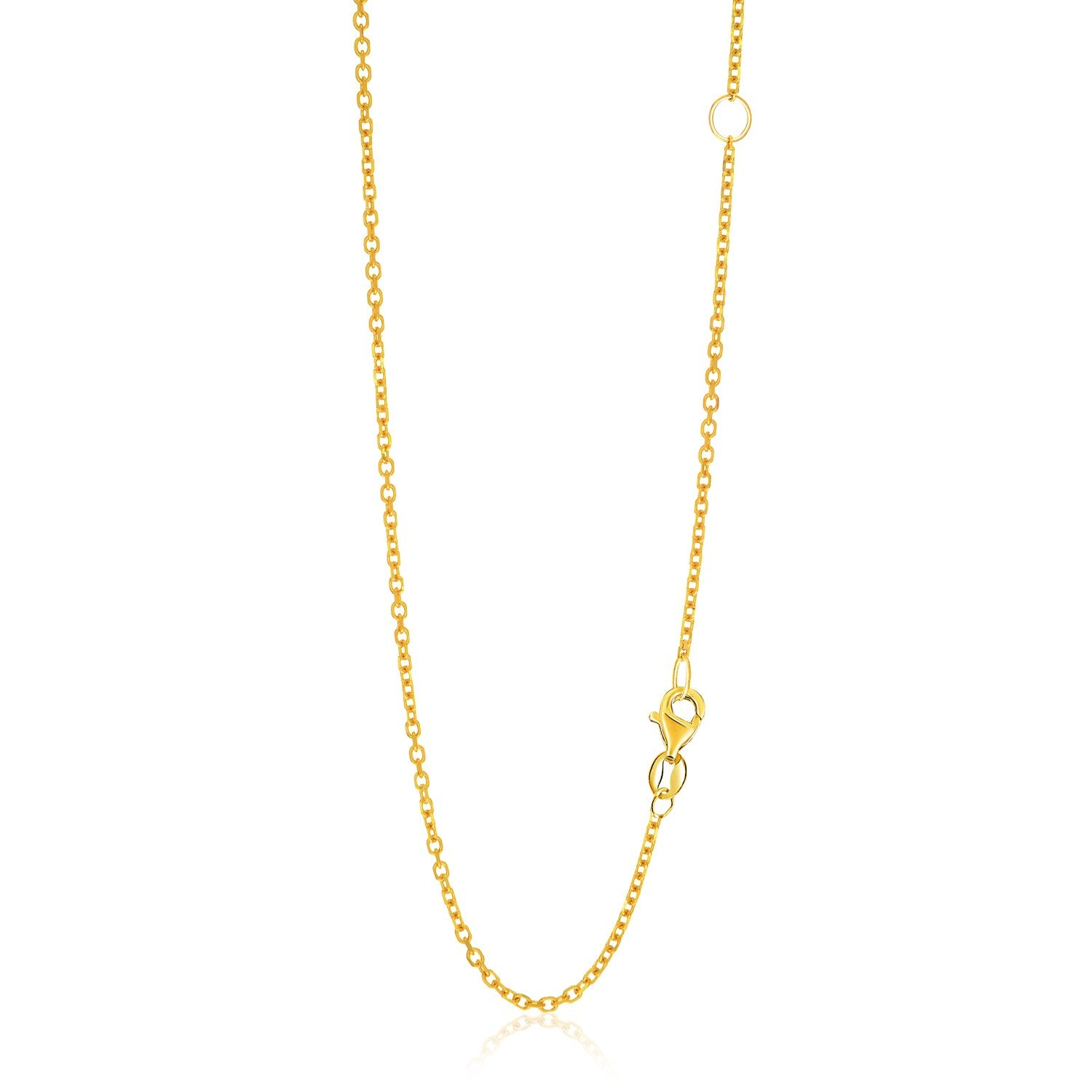 14k Yellow Gold Adjustable Cable Chain 1.5mm