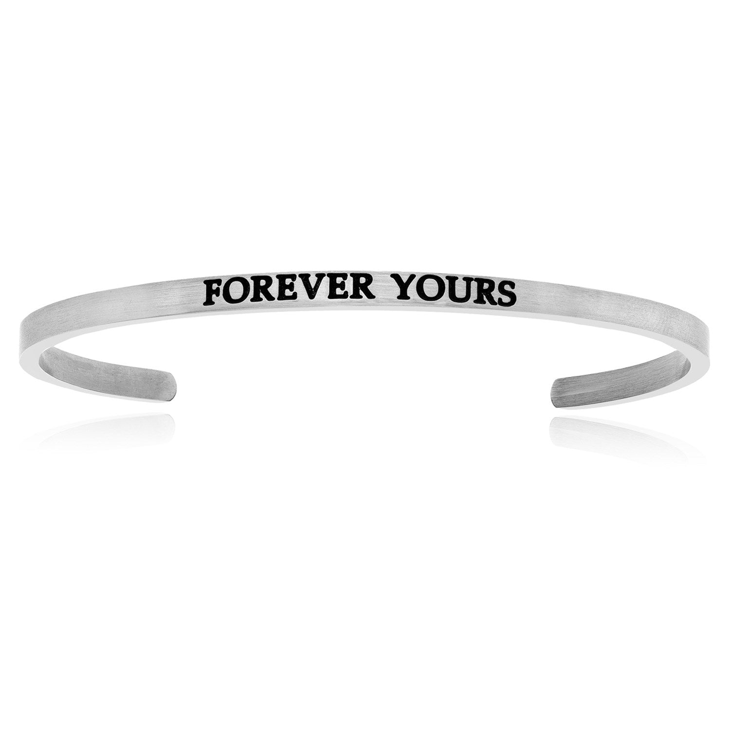 Stainless Steel Forever Yours Cuff Bracelet