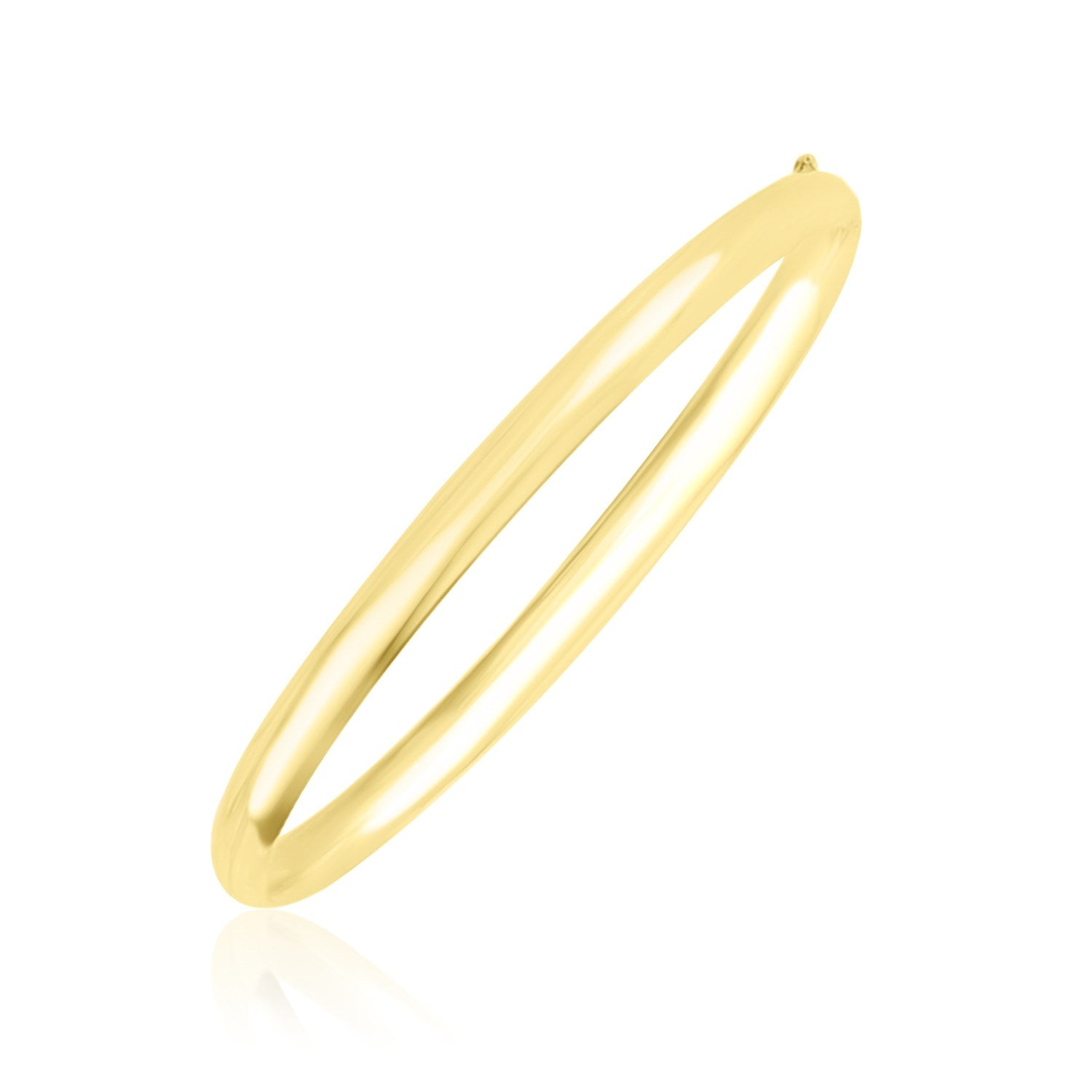 10k Yellow Gold Dome Style Shiny Bangle