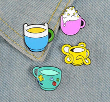 Load image into Gallery viewer, AdventureTime Mug Enamel Pin Set - Pinovations