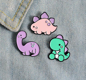 Dinosaur Park Enamel Pin Set - Pinovations